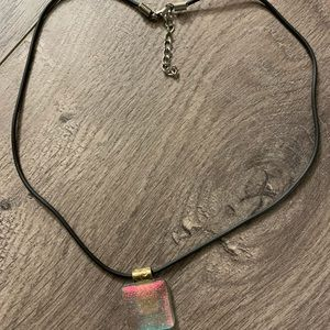 Gorgeous iridescent necklace